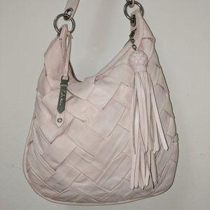Cole Haan Crystal Pink Woven Prudence Hobo